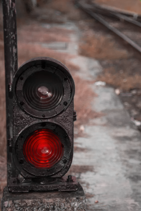 Red train signal